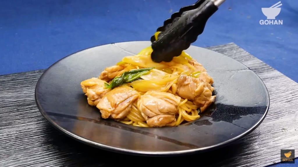鶏肉のパスタ