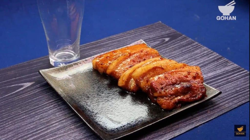 焼いた豚肉