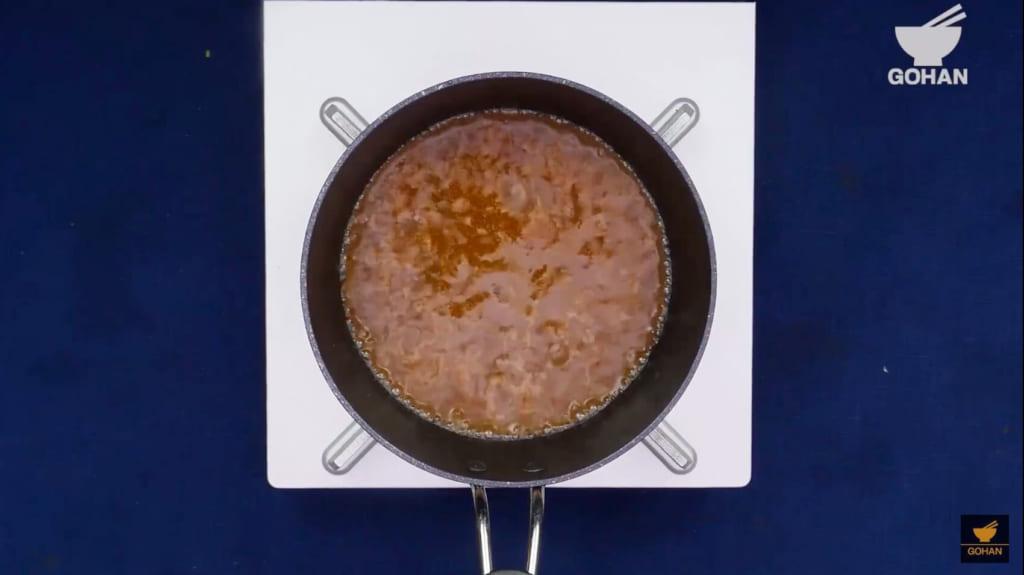 沸騰したスープ