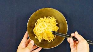 茹でた中華麺