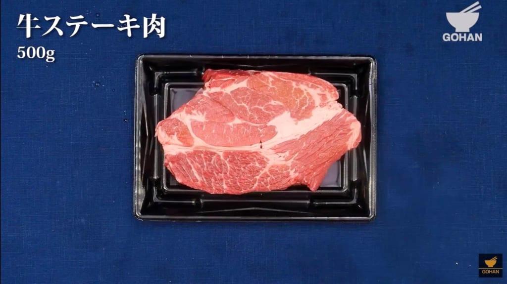 常温の牛ステーキ肉