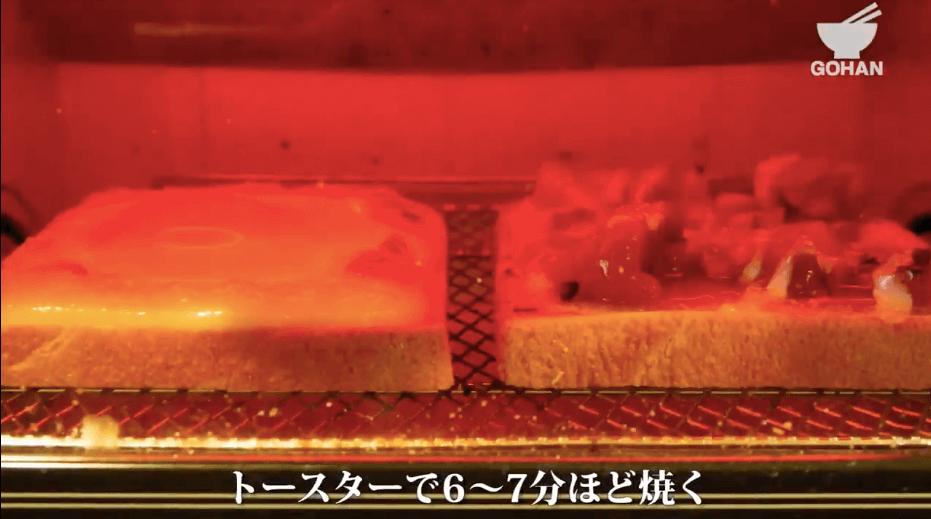 卵サンドの焼き方