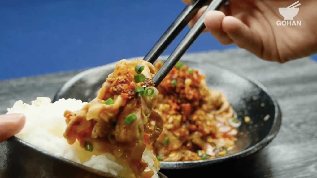 豚肉と食べるラー油のレシピ