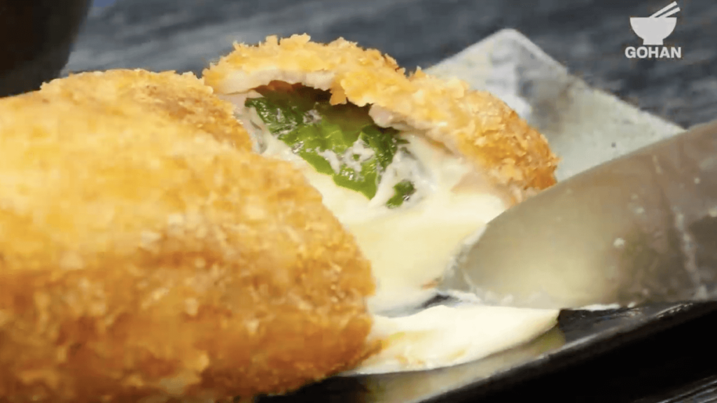 チーズ大葉とんかつレシピ