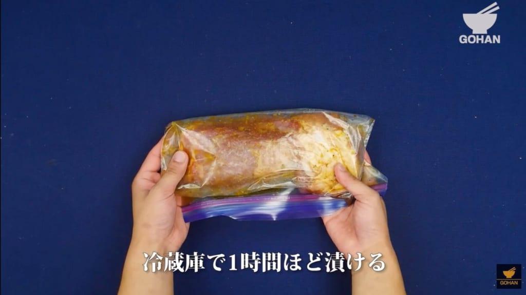 味付けした豚肉