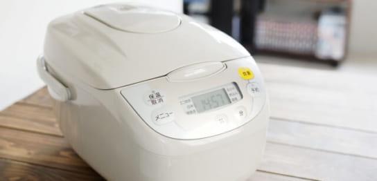 白色の炊飯器