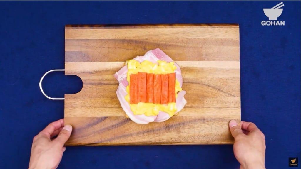 カニたまトースト