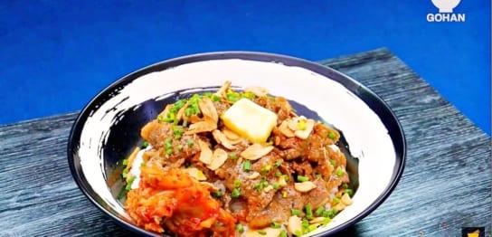 牛肉とにんにくの丼レシピ