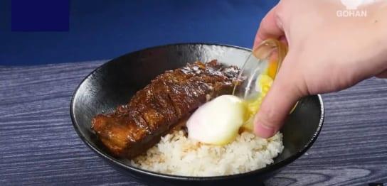 豚バラブロック肉を使った丼モノレシピ