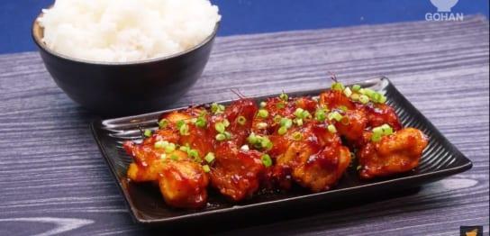 甘辛く味付けした鶏肉レシピ