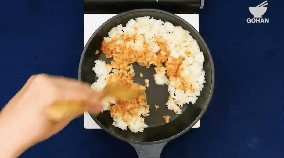 ご飯炒め方
