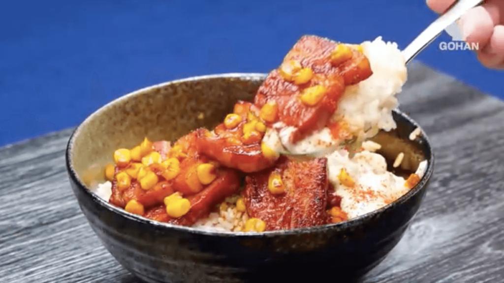 ベーコン丼のレシピ