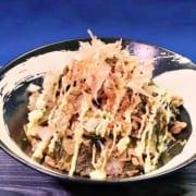 豚肉と高菜で炒めたマヨネーズ丼