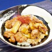 鶏肉と長ネギの丼レシピ