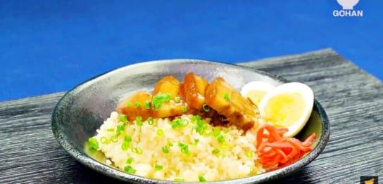 とんこつ味の丼レシピ