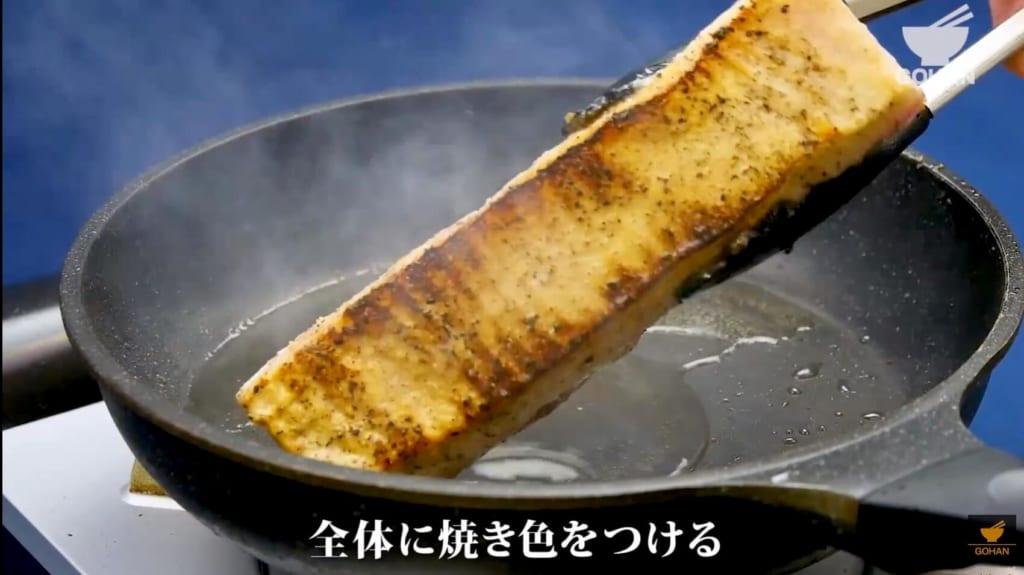 焼いた豚バラブロック肉
