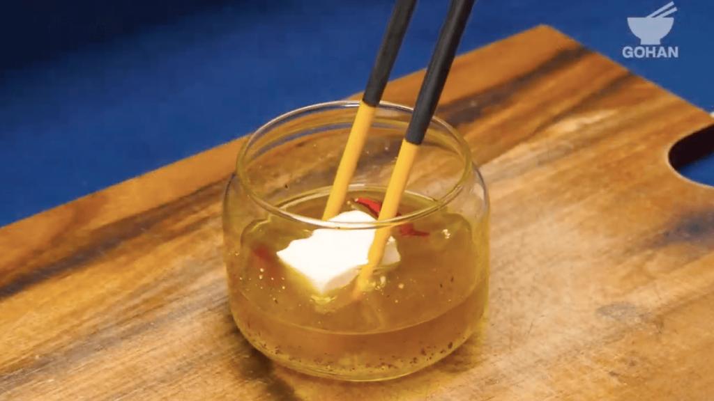 オリーブオイル漬け豆腐