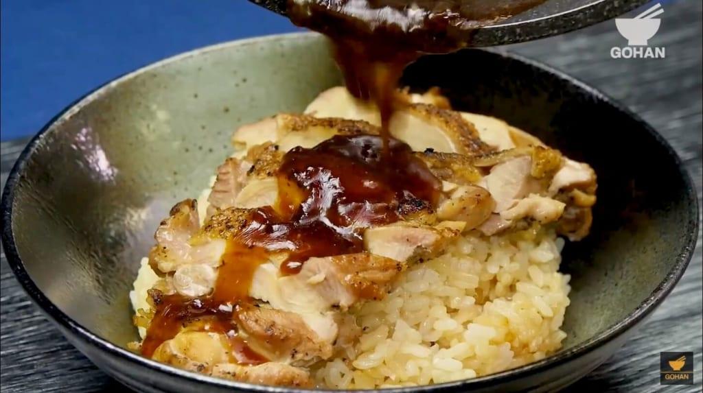 鶏肉の丼レシピ