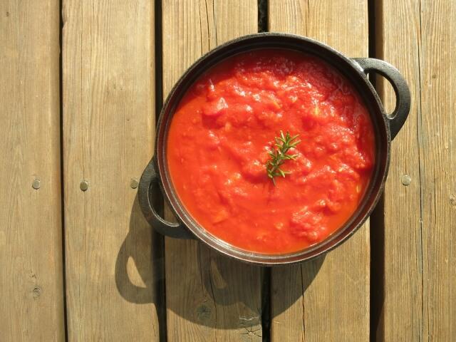 自家製のトマトソース