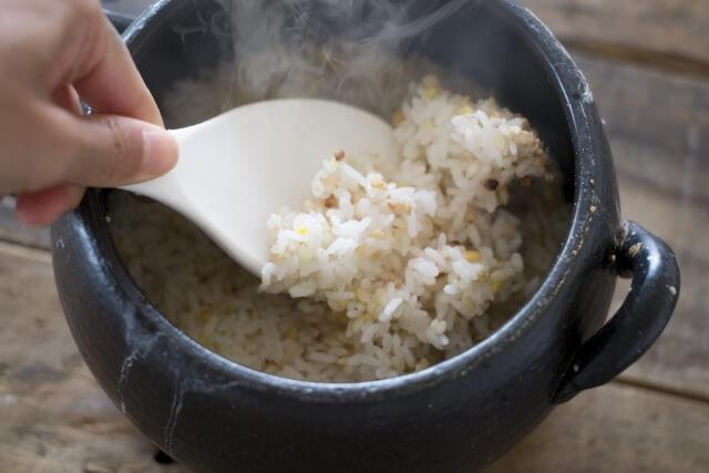 土鍋で炊いたご飯