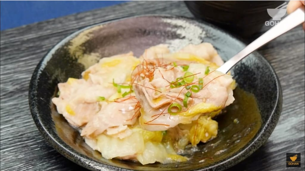 豚バラ肉と白菜のレシピ