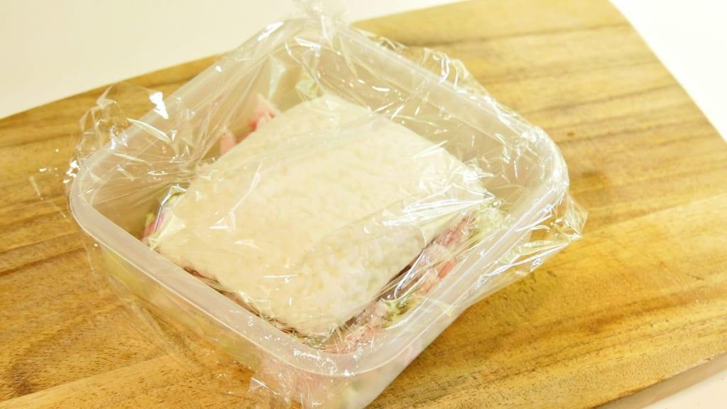 豚肉と白ご飯