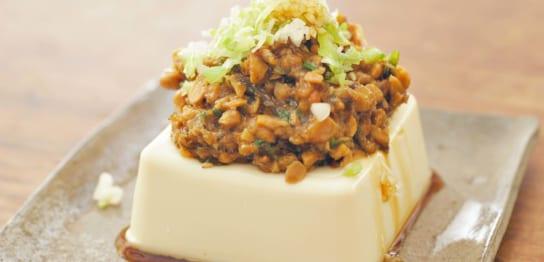 納豆と梅肉の冷奴