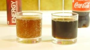 コーラとエナジードリンクの比較