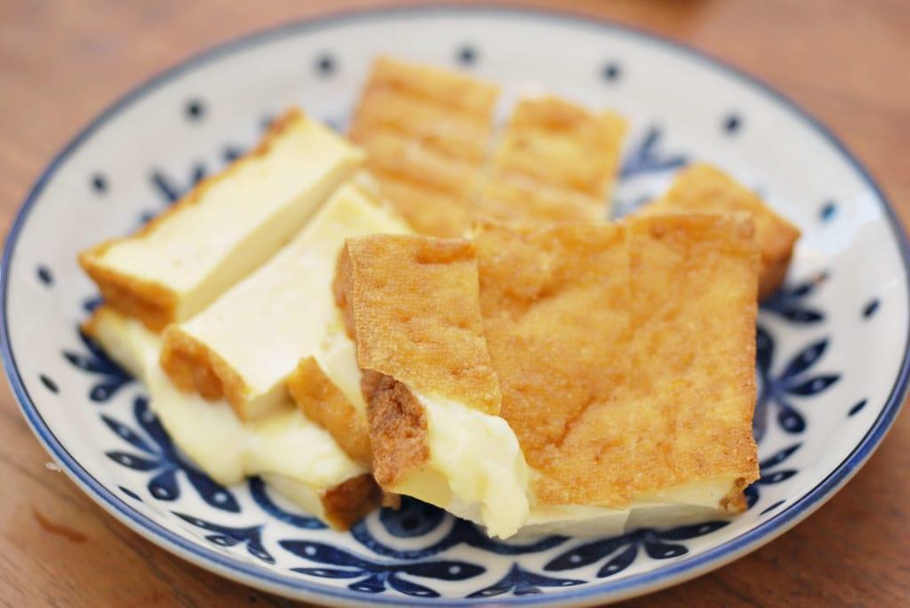 厚揚げのチーズサンド