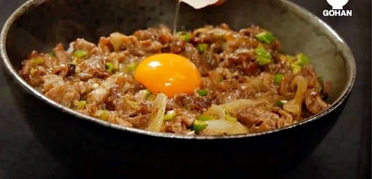 オクラ牛丼