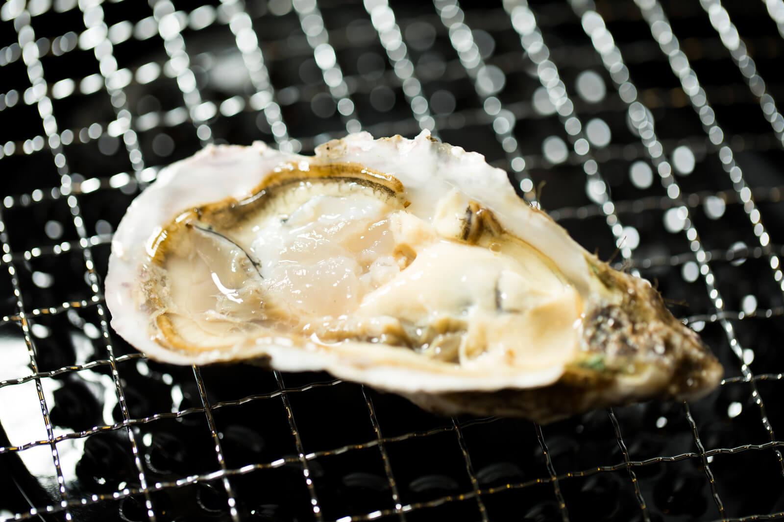 綺麗な焼き牡蠣