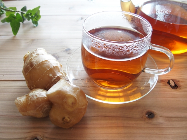 生姜を使った紅茶