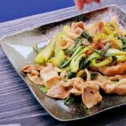 豚肉とチンゲンサイの『オイスターソース炒め』